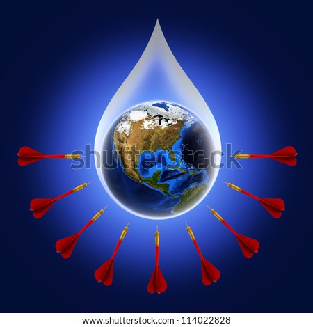 The concept of protecting the world., Elements of this image furnished by NASA - stock photo