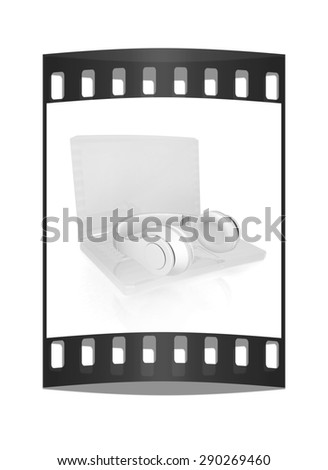 The concept of quality digital music. The film strip - stock photo