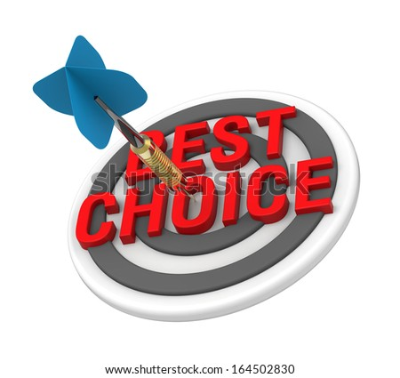 The concept of selecting a good product. Computer generated 3D photo rendering. - stock photo