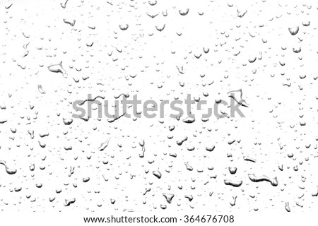 The concept of water drops on a white background - stock photo