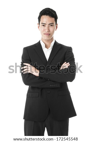 The confident businessman - stock photo