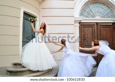 The conflict - stock photo