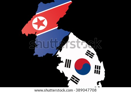 The confrontation between the two countries rivalry between the two countries The - stock photo