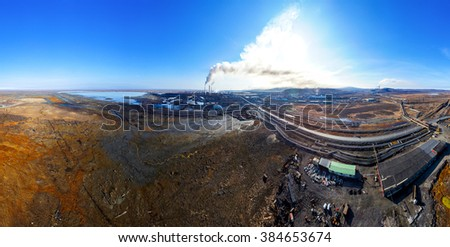 the consequences of environmental pollution. - stock photo