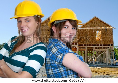 The construction of a new residential home - stock photo