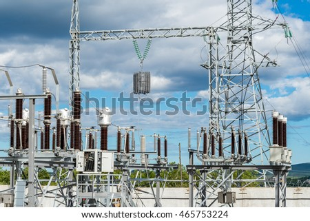 The construction of an electric substation