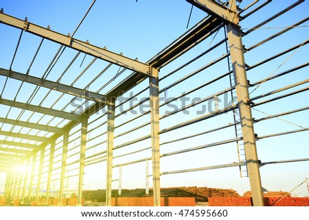 The construction of steel structure