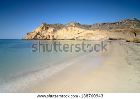 The Cookers Beach ( Los Cocedores ) in Almeria, Spain