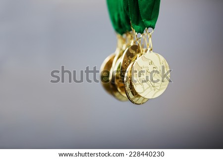 The Coolest Race Running Medals from Marathon - stock photo