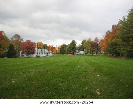 The country in the fall. - stock photo