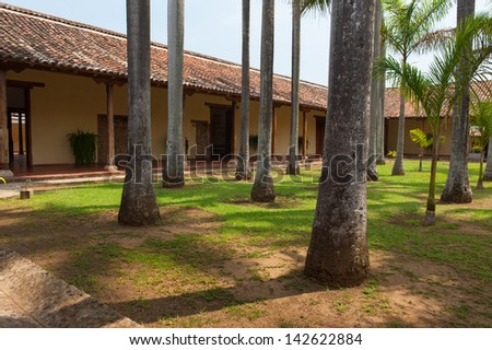 The courtyard of a monastery in Granada, Nicaragua - stock photo