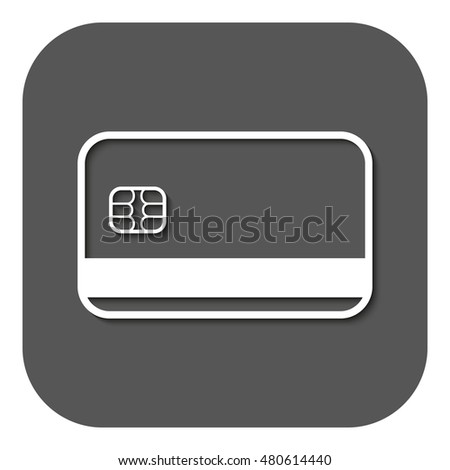Credit Card Icon Bank Card Symbol Stock Illustration 480614440