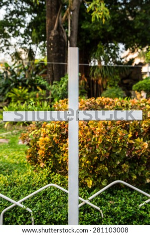 The cross is a symbol of Jesus Christ - stock photo