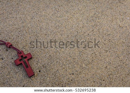 the cross necklace