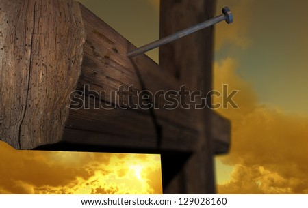 The cross of Golgotha the place of hope - stock photo