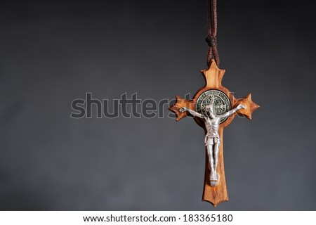 The Cross of St. Benedict - stock photo