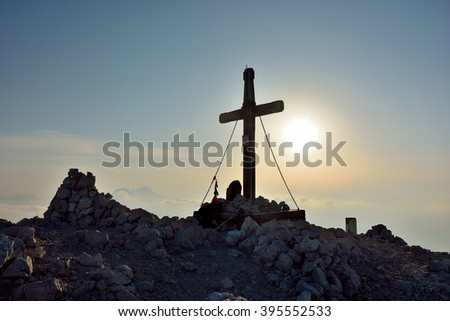The cross on the mountain