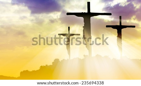 The crucifixion - stock photo
