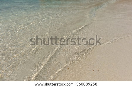 The crystal clear and shallow waters on the islands of the tropical Dry tortugas - stock photo