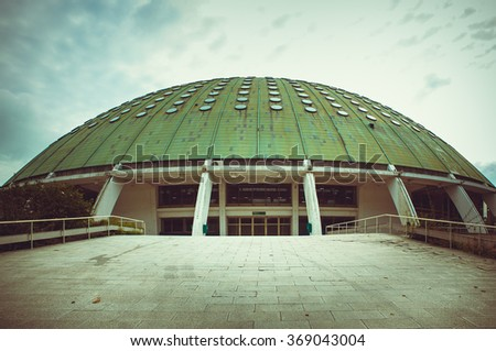 The Crystal palace building in Porto. - stock photo