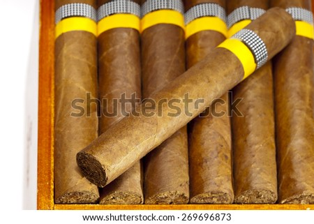 The Cuban cigars, hand made