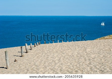 The Curonian Spit, Nida, Lithuania - stock photo