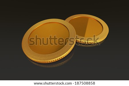 The currency coin of capital transaction for keying graphic