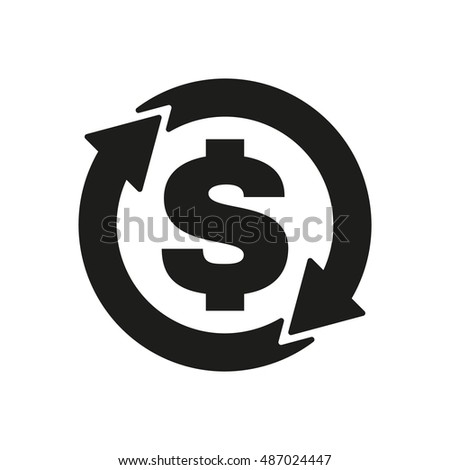 The currency exchange dollar icon. Cash and money, wealth, payment symbol. Flat  illustration