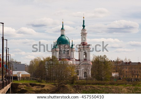 The current Cathedral of St. Catherine. Kingisepp of Leningrad oblast, Russia
