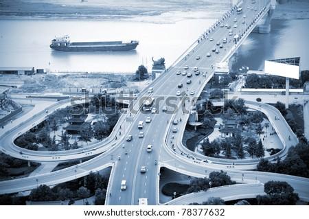 The curve of the eye bridge winding - stock photo