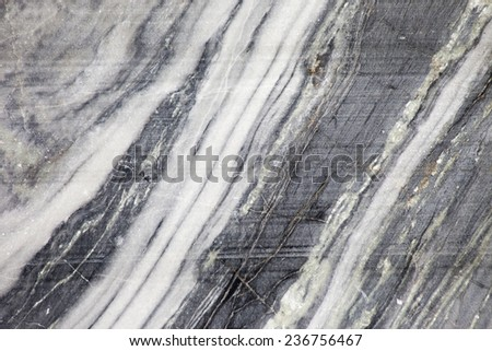 The cut marble rock. The texture of the stone