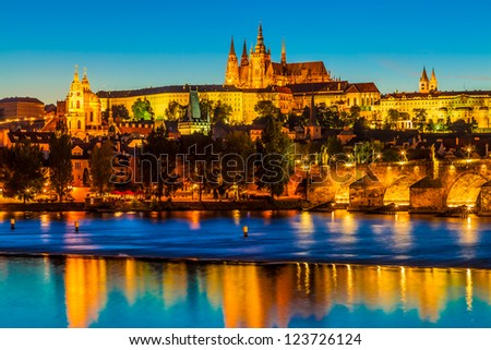 "The Czech Capital Prague is often called ""the Golden City"". - stock photo"
