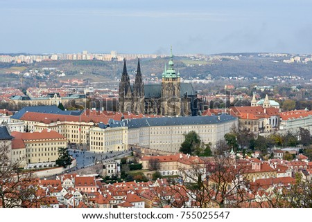 The Czech Castle is a UNESCO World Heritage Site. National shrine of the Czech Republic.