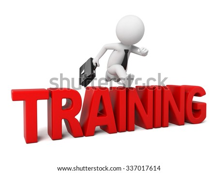 The 3d guy had his training - stock photo