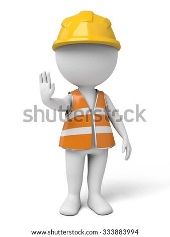 The 3d guy is a traffic management assistant - stock photo