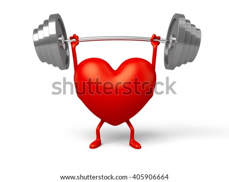 The 3d heart and a barbell