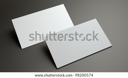 the 3d scene could be fit with any name card design,Is the best for promotion of company brand image. - stock photo