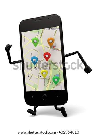 The 3d smartphone and an electronic navigation map