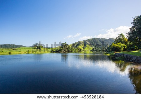The Daintree River near the town of Daintree in far nth Queensland, Australia - stock photo