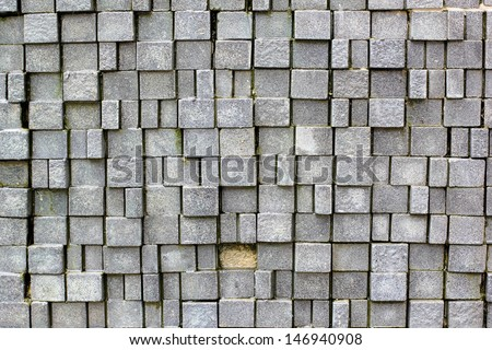The damage stone wall background - stock photo