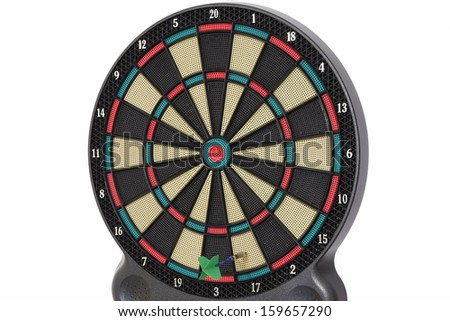 The darts game, number 17 - stock photo