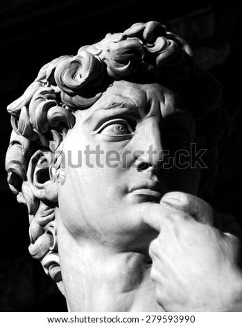 The david. Florence. - stock photo