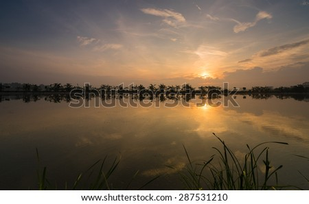 The dawn of new day - stock photo