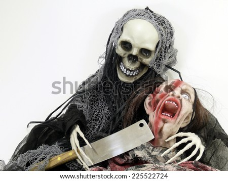 the death and the zombie (Dolls) - stock photo