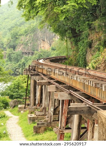 The Death railway at Kanchanaburi,Thailand