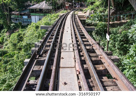 The Death Railway (Thailand-Burma railway) on World War II.