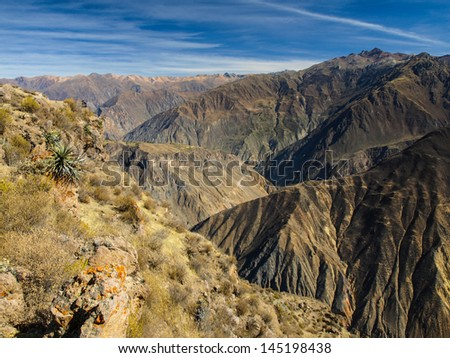 The deepest canyon in the world - Colca (Peru)