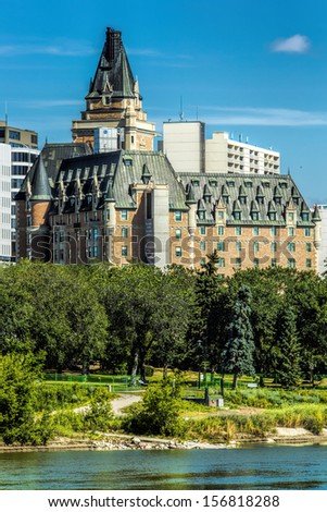 The Delta Bessborough hotel is a historical landmark in Saskatoon and is known for its castle-like appearance.
