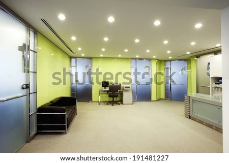 The depiction of office set up