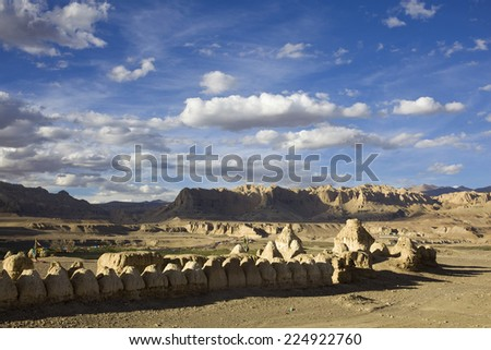 The desert in Ngari of Tibet, China.